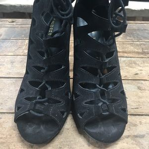 Chinese Laundry Z-Lady Open Toe Lace Up ankle boot